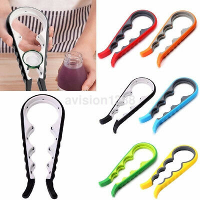 4 in 1 Multi-Purpose Handheld Glass Lid Jar Bottle Can Opener Kitchen Tool UK