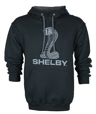 Shelby American Super Snake Cobra  Logo Black Hoodie Ford Mustang GT500  GT350