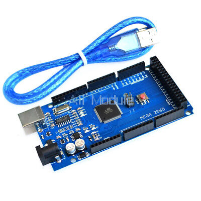 2PCS MEGA 2560 R3 ATMEGA16U2 ATMEGA2560-16AU Board + USB Cable For Arduino