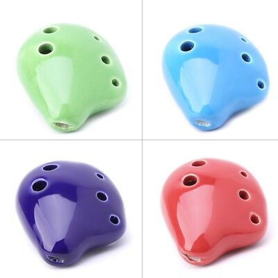 6 Hole Professional Rythem Alto A C Ceramic Ocarina Instrument Collectible new