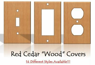"""Red Cedar """"Wood"""" Light Switch Covers Home Decor Outlet - MADE FROM PLASTIC"""