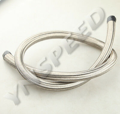 AN-6 AN6 6AN Stainless Steel Double Braided Oil Fuel Gas Line Hose 1500 PSI