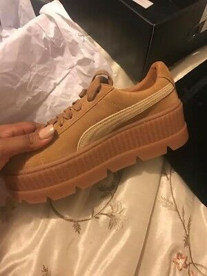 pretty nice a1c50 d3e6b FENTY PUMA- CLEATED Creepers-Suede/Tan/Golden Brown MSRP ...