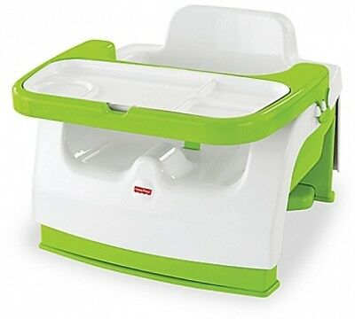 Fisher Price Grow with Me Portable toddler kid child Booster Green feeding table