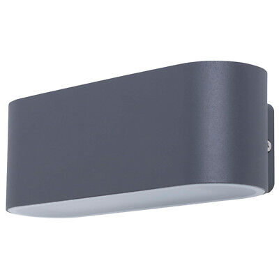 SMARTWARES Up and Down LED Wall Light Lamp In/Outdoor 14 W Anthracite GWI-002-HS