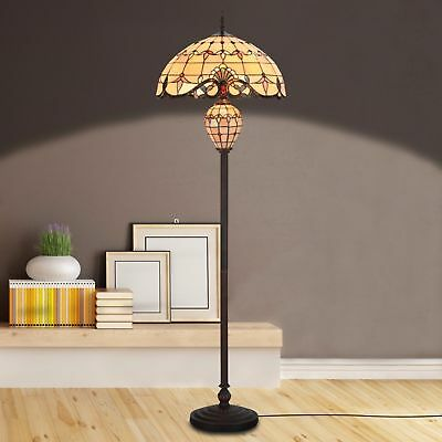 Tiffany Style Lamp Double Li Floor Lamp Home Decor Stained Glass Lighting