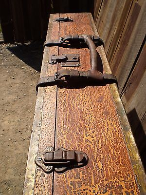 Vintage Timber Trunk with Leather Straps