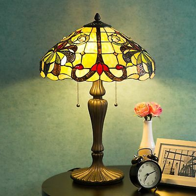 Tiffany Style Lamp Swirling Shells Desk Lamp Baroque Jeweled Stained Glass Decor