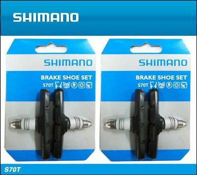Shimano S70T V-Brake Cartidge Shoe Pair with Nut /& Washer for BR-M760//M600//M580