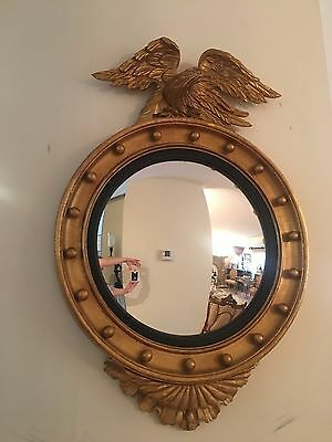 Federal Carved Gilt Wood Convex Bullseye Mirror