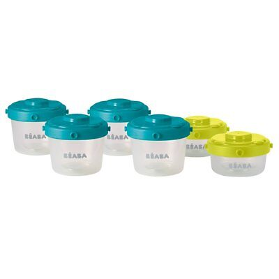 Beaba Six Piece Clip Lock Baby Food Storage Containers Set 60/120 ml 912481