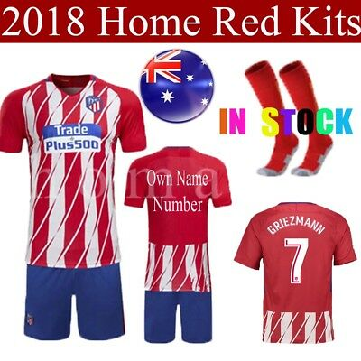 17-18 Jersey Football Red Home Kits Football for kid Soccer Boy Youth With Socks