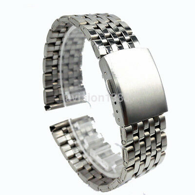 18/20/22mm Stainless Steel Strap Straight End Metal Bracelet Wrist Watch Band