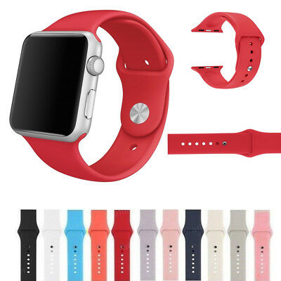 Replacement Sports Silicone Strap For Apple Watch Band 38/42mm Series 2/1