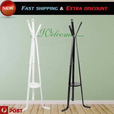 Wooden Coat Hanger Stand Rack Clothes Hat Jacket Bag Umbrella Hook Scarf Holder