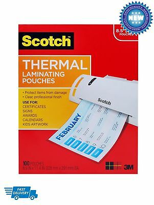 Scotch Thermal Laminating Pouches, 8.9 x 11.4-Inches, 3 mil thick, 100-Pack