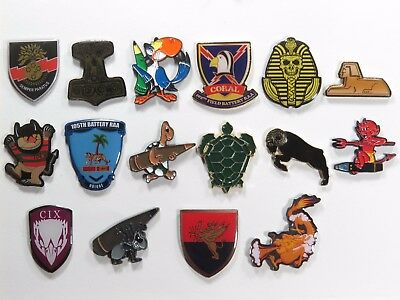 16 x Royal Australian Artillery BTY Lapel Badges RAA  Collectors Pack