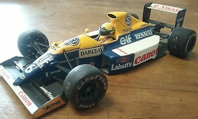 TAMIYA Williams FW-13B Renault F1 1:20 Plastic Model Ayrton Senna figure added