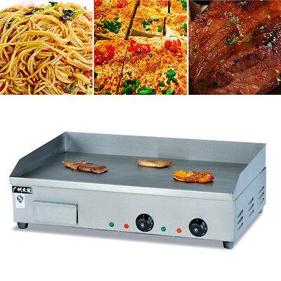 Commercial Electric Griddle Flat Hotplate BBQ Grill Cooktop Stainless Steel 73cm