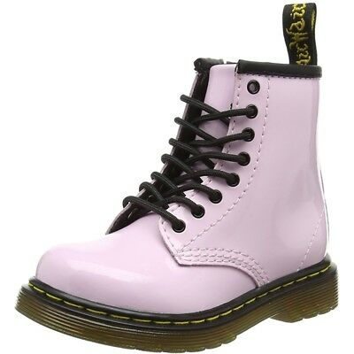 Dr Martens Brooklee Baby Pink Patent Infant Ankle Boots