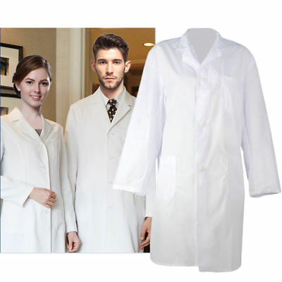 White Lab Coat Hygiene Food Industry Warehouse Laboratory Doctor Medical Coat UK