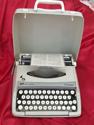 Smith Corona Calypso Typewriter with case and instructions complete
