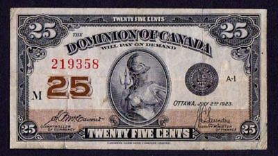 Canada Banknote ,year 1923 , 25 Cent