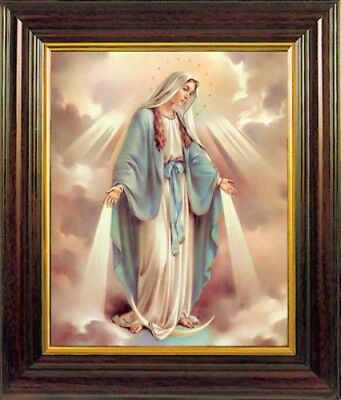 LARGE OUR LADY VIRGIN MARY FRAMED PICTURE 100's OF STATUES & CANDLES ALSO LISTED