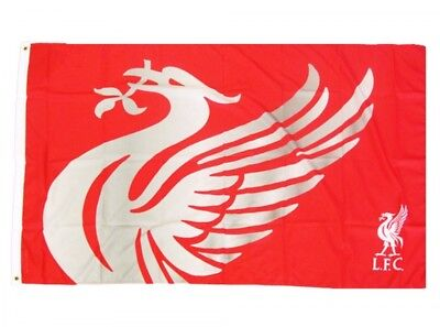 Liverpool FC Football Club Official Red And Silver Flag Match Banner Liverbird