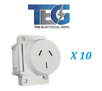 Dexton 10 x Quick Connect Surface Socket Plug Base for LED Down Lights
