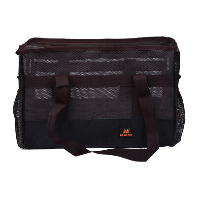 DO DO PET Carrier summer networked bag with pockets dog cat holder Brown C7A4
