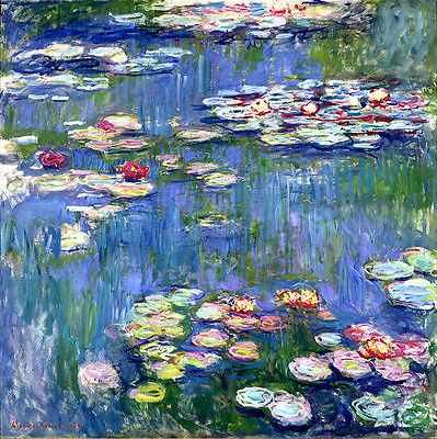 Claude Monet Water Lilies 2 canvas print giclee 8.3X8.3 reproduction art poster