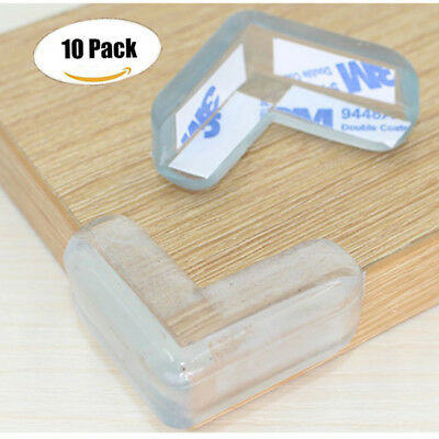 2/10Pcs Clear Table Desk Corner Protector Edge Guard Cushion Baby Safety Bumper