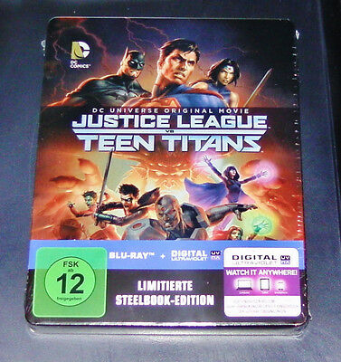 Dcu Justice League Vs. Teen Titans Limited Steelbook Edition Blu-Ray