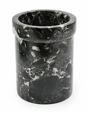 Black marble wine & champagne cooler or large utensil holder beautiful gift