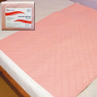 Omnitex Washable Bed Protector with Tucks - 90 x 90cm Incontinence Pad, 3 Litres