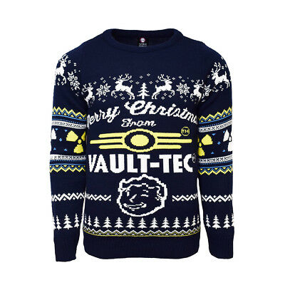 Fallout 4 Official Merry Christmas From Vault Tec Unisex Xmas Jumper / Sweater