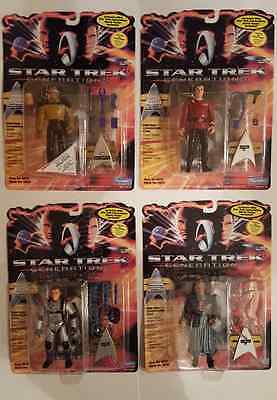 Lot of 4 Star Trek Generations Carded Action Figures 1994 MOC Lot #71a