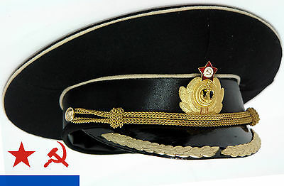 Early 90th NAVY CAP officer's Uniform USSR Red fleet NAVAL