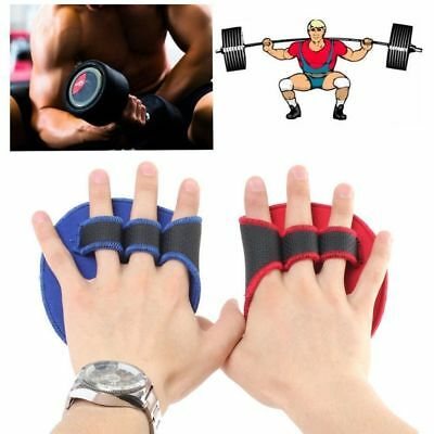 Sport Grip Weight Lifting Pads Gloves Fingerless Gym Workout Fitness Training