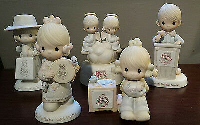 Vintage Precious Moments Collector's Club Figurines - Lot of 5