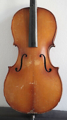 altes cello mit Zettel Ventapane geige old violoncello violin violon viola