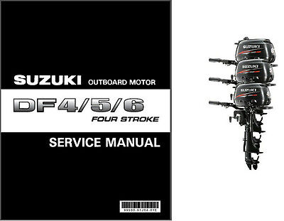 Suzuki DF4 DF5 DF6 Four Stroke Outboard Motor Service Repair Manual CD  DF 4 5 6