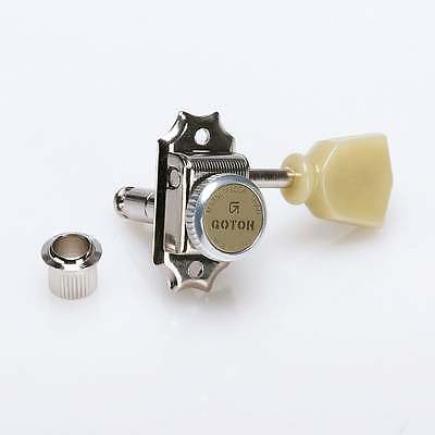 Gotoh SD90 Vintage Magnum Lock Traditional Tuners 3 Aside - Nickel Finish