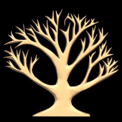 (713) STL Model Tree for CNC Router 3D Printer  Artcam Aspire Bas Relief