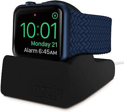 Orzly Compact Stand for Apple Watch - Nightstand Mode Compatible - BLACK Support