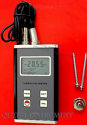 New Digital Vibration Meter Velocity Acceleration Displacement RMS Simultaneous