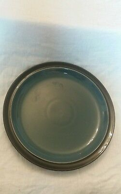 Denby Duets black and blue dinner plate 10.25 inches plus salad plate 8.75 inch
