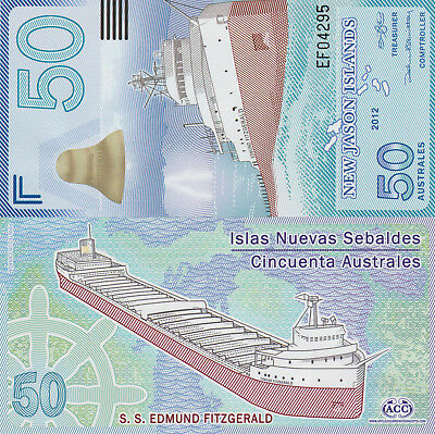 New Jason Islands 50 Australes (2012) - Edmund Fitzgerald UNC
