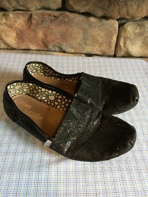 e38d2c7eff7 TOMS WOMEN S BLACK Shoes Sparkly Size 8W -  17.99